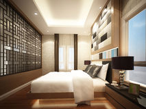 3d rendering of interior bedroom Stock Photos
