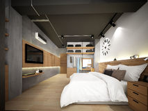 3d rendering of interior bedroom Stock Image