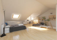 3d rendering interior bedroom Stock Images