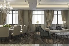3d rendering leisure lounge and lobby hotel for meeting Stock Photography