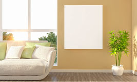 3D Rendering of Interior Living Room Royalty Free Stock Images
