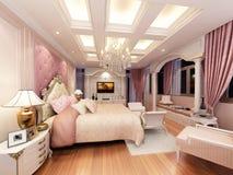 3d rendering of interior luxury  bedroom. 3d design Royalty Free Stock Image