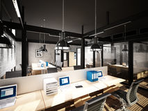 3d rendering of interior office Royalty Free Stock Images