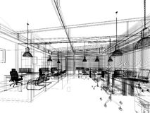 3d rendering of interior office. 3d rendering of interior design office Royalty Free Stock Images