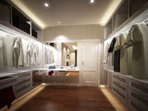 3d rendering of interior walk-in closet Stock Photos