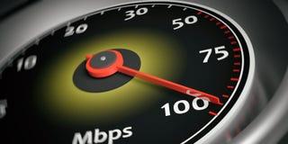 3d rendering internet speed meter Stock Photos
