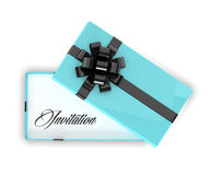 3d rendering of invitation in elegant gift box Stock Photography