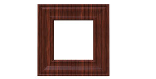 3d rendering of  isolated modern hanging red mahogany color phot. 3d rendering of cool isolated modern hanging red mahogany color photo frame on a white Royalty Free Stock Photo