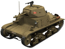 3d Rendering of an Italian M1340 Tank Stock Image