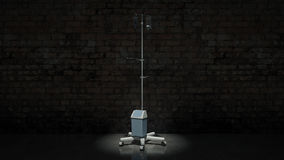 3d Rendering of a IV Pole Stock Images