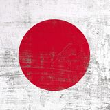 Scratched Japan flag. 3d rendering of Japan flag in a scratched surface Royalty Free Stock Photos