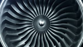 3D Rendering jet engine, close-up view jet engine blades. 4k animation.  stock video footage