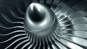 3D Rendering jet engine, close-up view jet engine blades. 4k animation.  stock footage