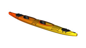 3D Rendering Kayak on White Stock Photos