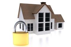 3D rendering keylock z domem Obrazy Stock