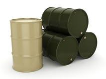 3D rendering khaki barrels Royalty Free Stock Image