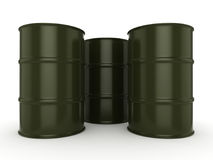 3D rendering khaki barrels Stock Images