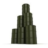 3D rendering khaki barrels Stock Image
