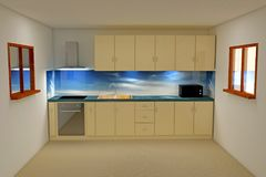 3d rendering kitchen room stock photos