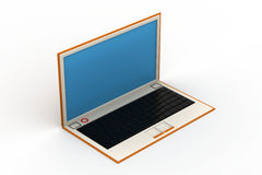 3d rendering of laptop. In white background Royalty Free Stock Image