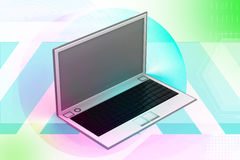 3d rendering of laptop in white background Royalty Free Stock Photo