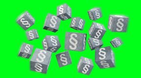3D rendering law cubes. Isolated on green background Stock Photos