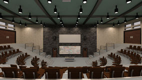 3D Rendering Lecture Hall Royalty Free Stock Images