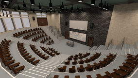 3D Rendering Lecture Hall Royalty Free Stock Photos