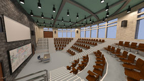 3D Rendering Lecture Hall Stock Images