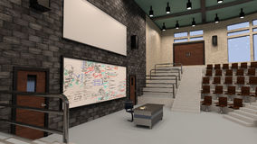 3D Rendering Lecture Hall Stock Photography