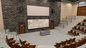 3D Rendering Lecture Hall Stock Photo