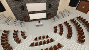 3D Rendering Lecture Hall Royalty Free Stock Image