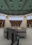 3D Rendering Lecture Hall Stock Image