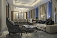 3d rendering leisure lounge and lobby hotel for meeting Royalty Free Stock Photos