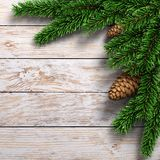 3D rendering light christmas wooden background Royalty Free Stock Photography