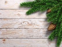 3D rendering light christmas wooden background Stock Photos
