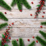 3D rendering light christmas wooden background Royalty Free Stock Photos
