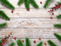 3D rendering light christmas wooden background Stock Image