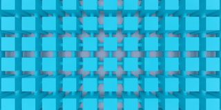Abstract composition blue squares Royalty Free Stock Images