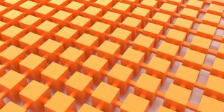 Abstract composition orange squares Royalty Free Stock Photos