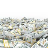 3d rendering lots of packs of US dollars Stock Photography