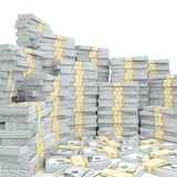 3d rendering lots of packs of US dollars. In high quality Royalty Free Stock Images