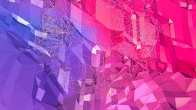 3d rendering low poly abstract geometric background with modern gradient colors. 3d surface as cartoon terrain with blue. 3d rendering low poly abstract Stock Illustration