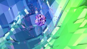 3d rendering low poly abstract geometric background with modern gradient colors. 3d surface as cartoon terrain with blue. 3d rendering low poly abstract Royalty Free Stock Photos