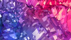 3d rendering low poly abstract geometric background with modern gradient colors. 3d surface as cartoon terrain with blue. 3d rendering low poly abstract Stock Photos