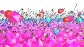 3d rendering low poly abstract geometric background with modern gradient colors. 3d surface with red blue gradient and. 3d rendering low poly abstract geometric stock illustration