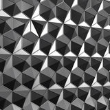 3d rendering low poly polygonal surface grey Stock Photography