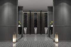 3d rendering luxury public male toilet. 3d rendering interior and exterior design Stock Image