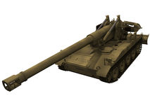 3d Rendering of a M110A2 Howitzer Royalty Free Stock Photo