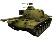 3d Rendering of a M48 Patton Medium Tank Royalty Free Stock Photography